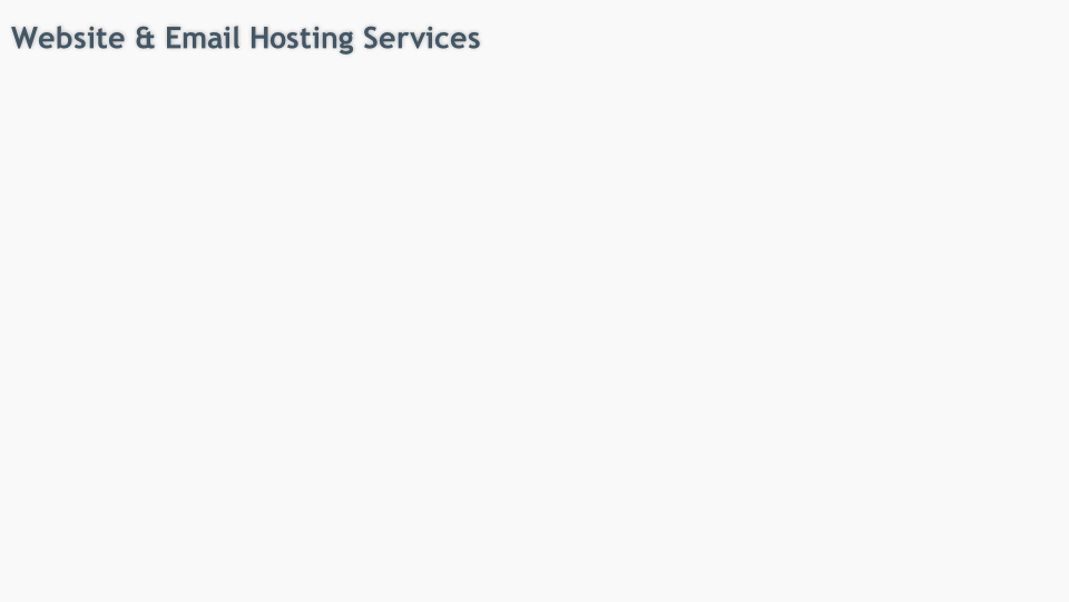 Website & Email Hosting Services